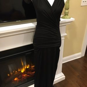 NWT MAX STUDIO LONG BLACK DRESS